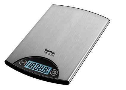 Balança Digital de Cozinha, 5Kg, Com Bateria, Balmak, SUPERINOX-5