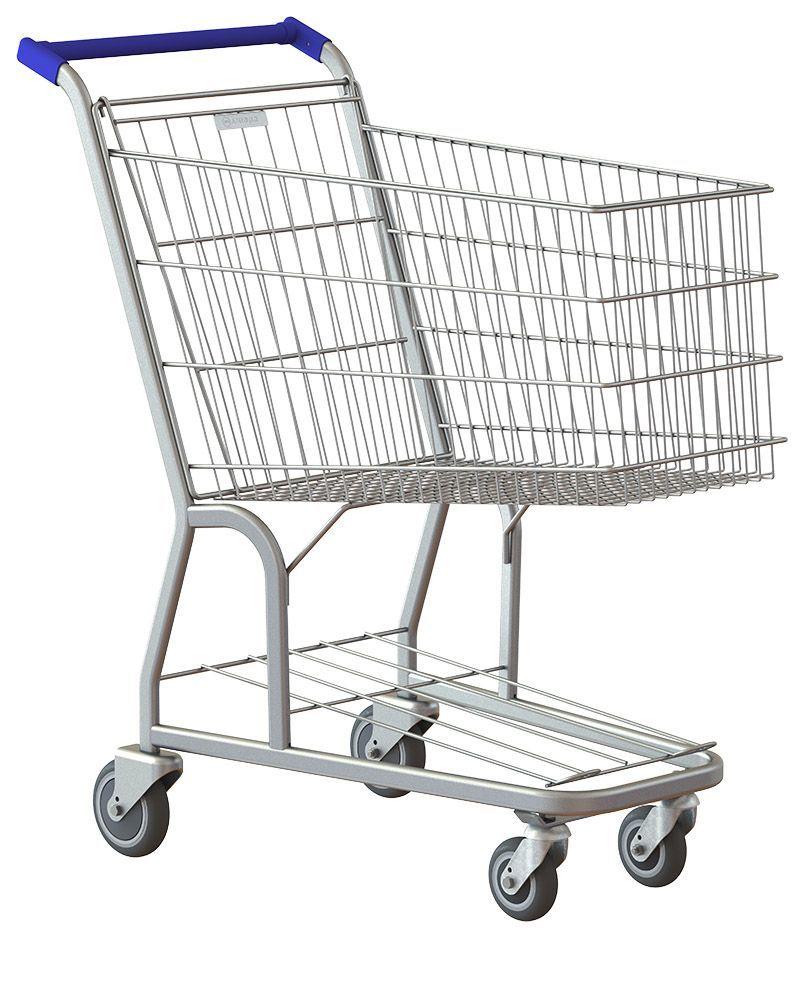 Carrinho de Supermercado, 130Litros Simples, Premium, Rolamentos Blindados, Amapá