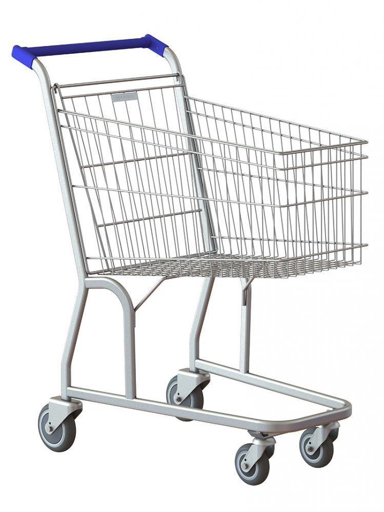 Carrinho de Supermercado, 90Litros Simples, Premium, Rolamentos Blindados, Amapá