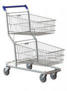 Carrinho de Supermercado, 130Lts Duplo, Premium, Rolamentos Blindados, Amapá