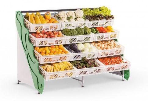 Expositor de Frutas e verduras, Lateral Sem Espelho, Refrimate, FLSE