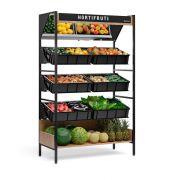 Expositor vasca de frutas e verduras, Com espelho, Gelopar, MHVE-125 PR