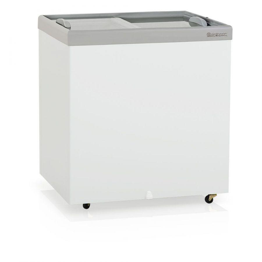 Freezer Horizontal, Congelador, Vidro Reto, Dupla Ação, 220Lts, Gelopar, GHDE-220 CZ, 220V