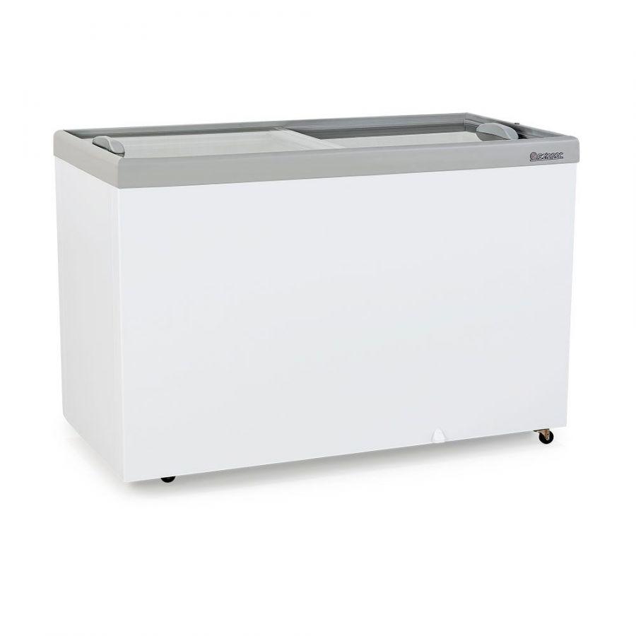Freezer Horizontal, Congelador, Vidro Reto, Dupla Ação, 411Lts, Gelopar, GHDE-410 CZ, 220V