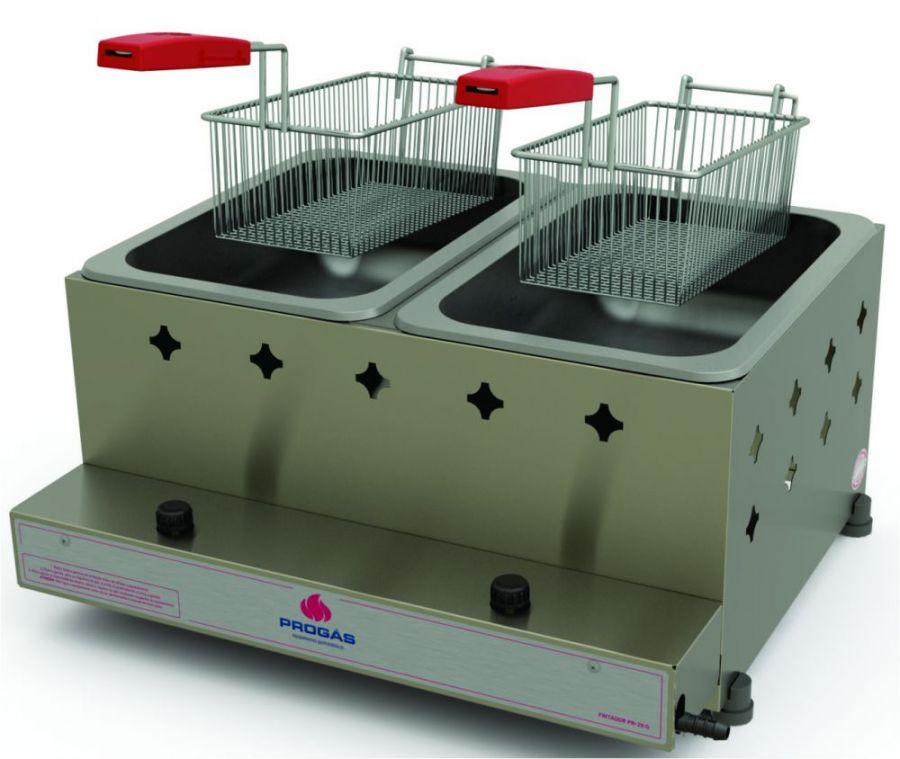 Fritadeira a Gás de Mesa 10L, Óleo, Progás, PR-20G