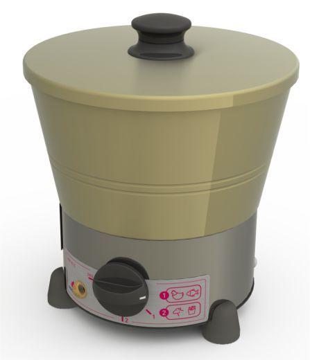 Fritadeira Elétrica, 1 Litro, Com Termostato, PROGÁS, PRF-01 E, 110V
