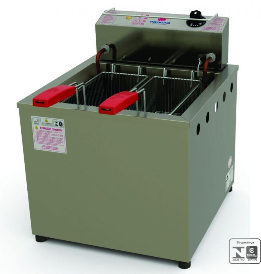 Fritadeira Elétrica de Piso, Água/Óleo, 18 Litros, Inox, Progás, PR-100 E, 220V