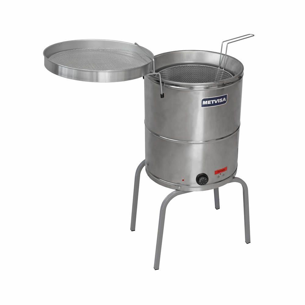 Fritadeira Elétrica de Piso, Água/Óleo, 27 Litros, Inox, Metvisa, FIE-20, 220V