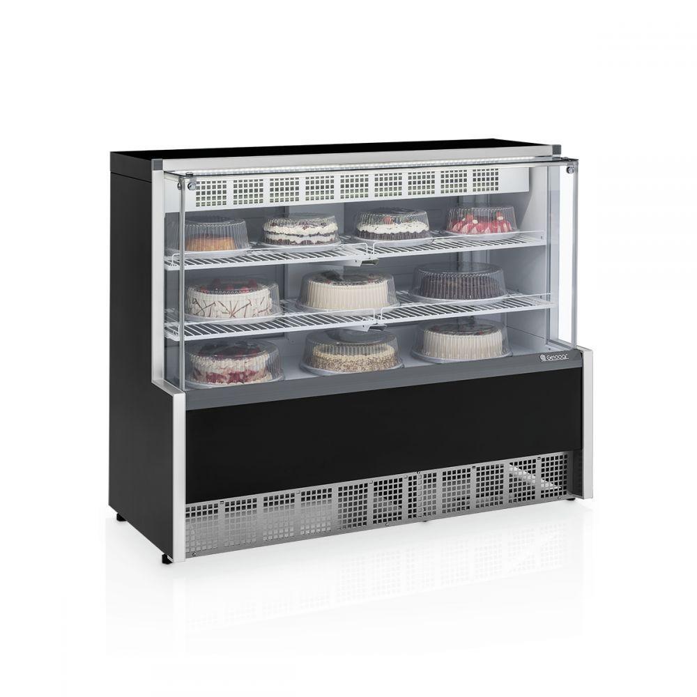 Vitrine Refrigerada Confeitaria, Dupla Função, 1,40Mts, Gelopar, GPEA-140R